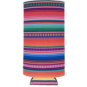 Serape Pattern Slim Can Coolie
