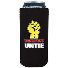 Load image into Gallery viewer, 16 oz can koozie with dyslexics unite