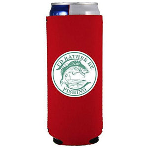 I'd Rather Be Fishing Slim 12 oz Can Coolie