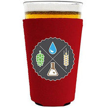 Load image into Gallery viewer, pint glass koozie with beer ingredients design