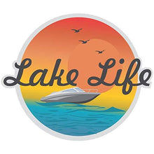 Load image into Gallery viewer, vinyl sticker with lake life design
