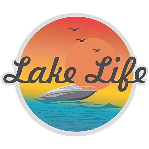 vinyl sticker with lake life design