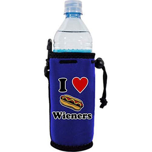 I Love Wieners Water Bottle Coolie