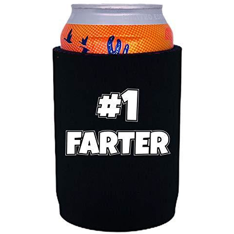 full bottom can koozie with #1 farter design