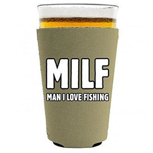 MILF, Man I Love Fishing Pint Glass Coolie