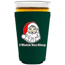 Load image into Gallery viewer, I Watch You Sleep Santa Pint Glass Coolie