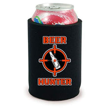 Load image into Gallery viewer, full bottom can koozie with beer hunter design