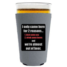 Load image into Gallery viewer, Two Reasons Pint Glass Coolie