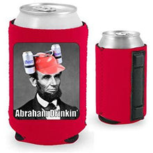 Load image into Gallery viewer, Abraham Drinkin' Magnetic Can Coolie