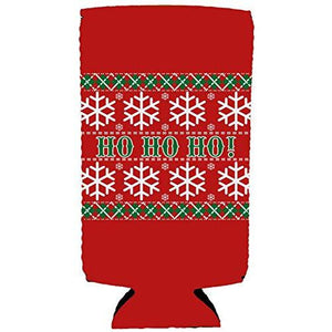 Ho Ho Ho Christmas Slim Can Cozy