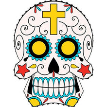 Load image into Gallery viewer, vinly sticker with sugar skull design