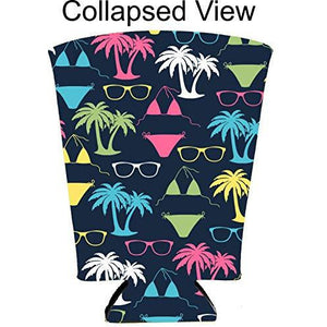 Bikini Pattern Pint Glass Coolie