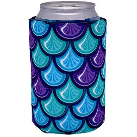 can koozie with fish scale design