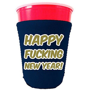 Merry Fucking Christmas and Happy Fucking New Year Party Cup coolie Set