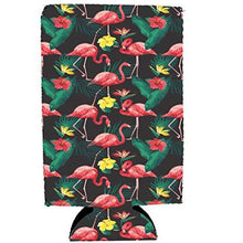 Load image into Gallery viewer, Flamingo Pattern 16 oz. Can Coolie