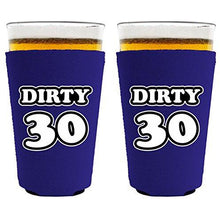 Load image into Gallery viewer, Dirty 30 Birthday Pint Glass Coolie
