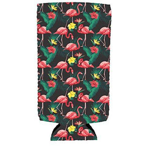 Flamingo Pattern Slim Can Coolie