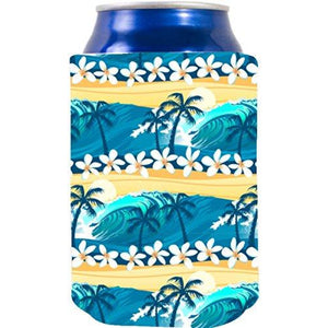 Waves Tropical Beach Pattern Can Coolie