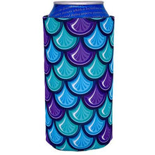 Load image into Gallery viewer, 16 oz can koozie with fish scale design