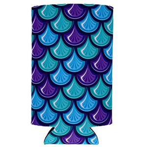 Fish Scale Pattern 16 oz. Can Coolie