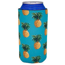 Load image into Gallery viewer, 16 oz can koozie with pineapple pattern design