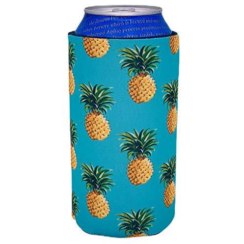16 oz can koozie with pineapple pattern design
