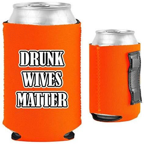 orange magnetic can koozie with
