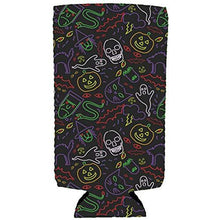 Load image into Gallery viewer, Halloween Neon Pattern Slim Can Coolie