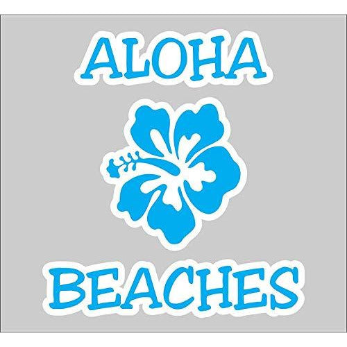 vinyl sticker with aloha beaches design