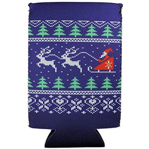 Christmas Sweater Pattern 16 oz. Can Coolie