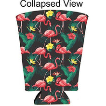 Load image into Gallery viewer, Flamingo Pattern Pint Glass Coolie