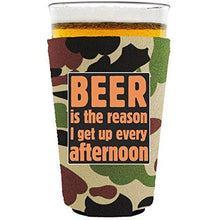 Load image into Gallery viewer, Beer is the Reason Pint Glass Coolie