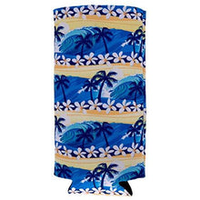 Load image into Gallery viewer, Waves Tropical Beach Pattern Slim Can Coolie
