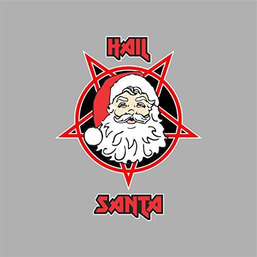 vinly sticker with hail santa design