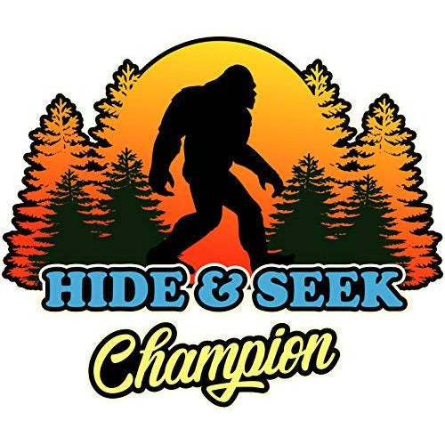 vinyl sticker with hide and seek champion design