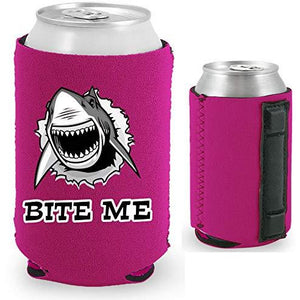 Bite Me Shark Magnetic Can Coolie