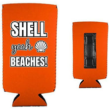 Load image into Gallery viewer, Shell Yeah Beaches Magnetic Slim Can Coolie