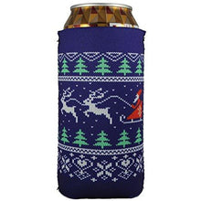 Load image into Gallery viewer, 16 oz can koozie with christmas sweater design