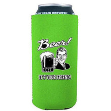 Load image into Gallery viewer, 16oz can koozie with beer it's your friend funny design