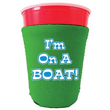 Load image into Gallery viewer, I'm On A Boat Party Cup Coolie