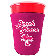 Load image into Gallery viewer, Beach Please Party Cup Coolie