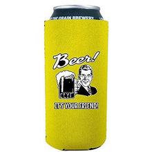 Load image into Gallery viewer, Beer! It's Your Friend! 16 oz Can Coolie