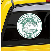 Load image into Gallery viewer, I'd Rather Be Fishing Vinyl Sticker