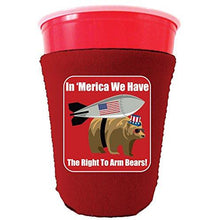 Load image into Gallery viewer, Right to Arm Bears Funny Party Cup Coolie