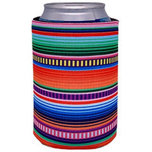 Load image into Gallery viewer, can koozie with serape design