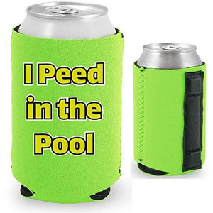 I Peed in the Pool Magnetic Can Coolie