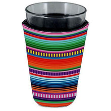 Load image into Gallery viewer, pint glass koozie with serape stripes pattern all over print