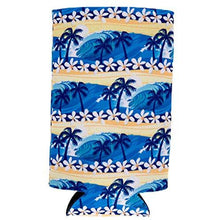 Load image into Gallery viewer, Waves Tropical Beach Pattern 16 oz. Can Coolie