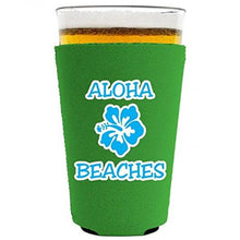 Load image into Gallery viewer, Aloha Beaches Pint Glass Coolie