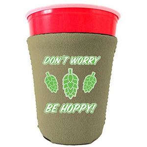 Don't Worry Be Hoppy! Party Cup Coolie